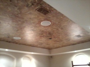 Metallic Faux finish on Ceiling
